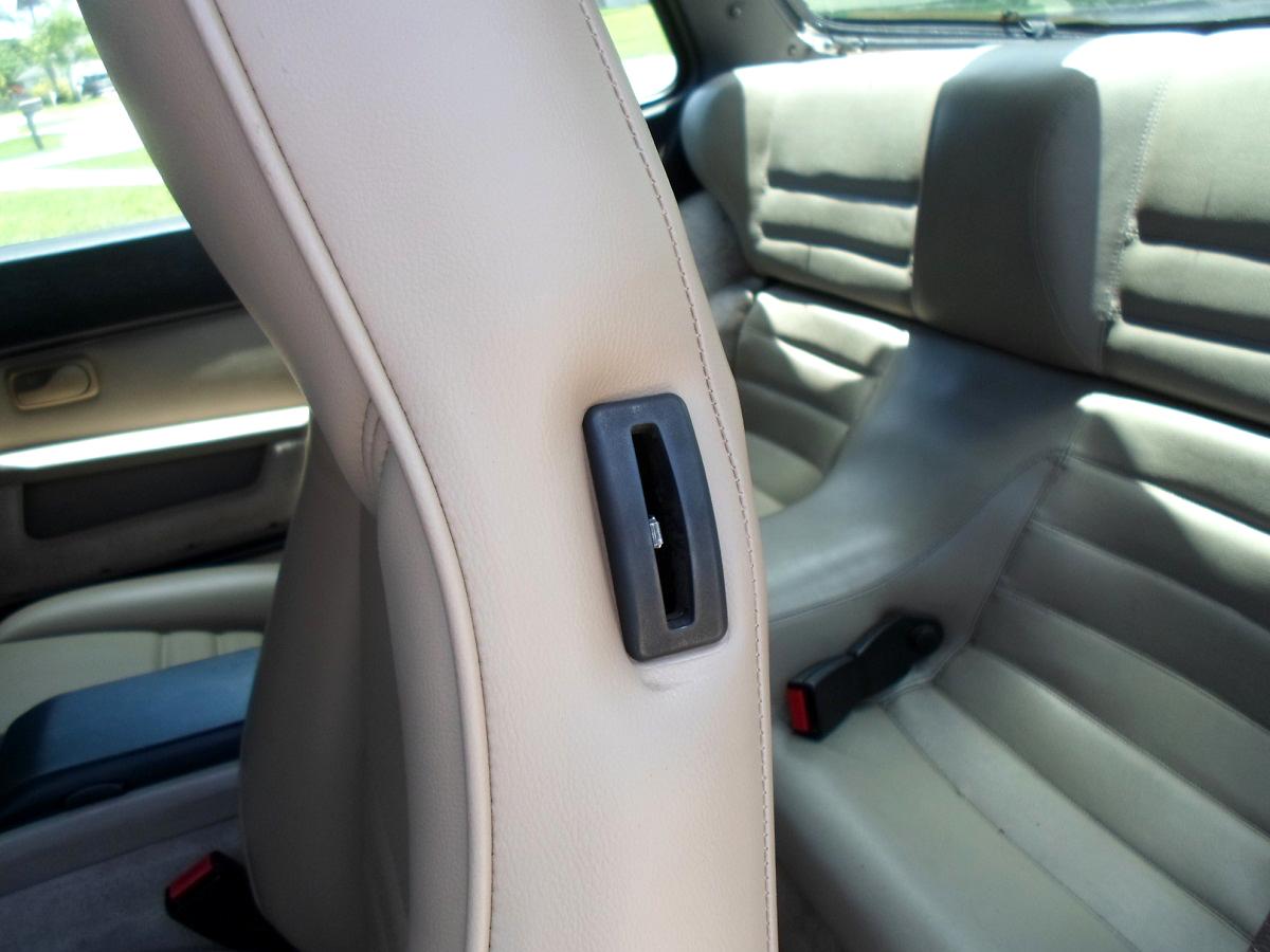 Porsche 944 seat latch installation