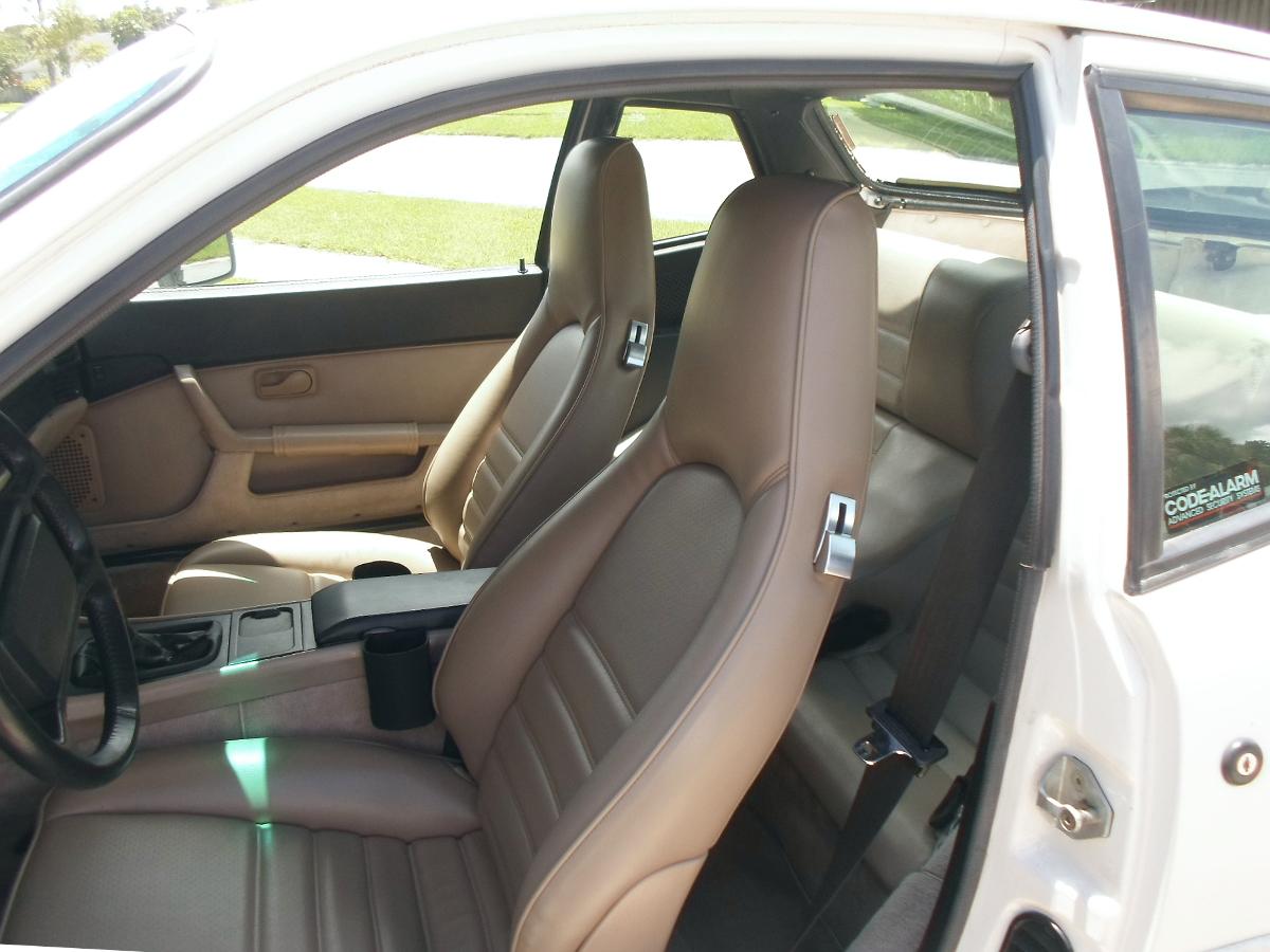 Brushed aluminum seat latches, Porsche 944, Porsche 911
