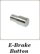 Emergency Brake Button, Brushed Aluminum Porsche 944
