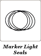 Marker Light Seals Porsche 944