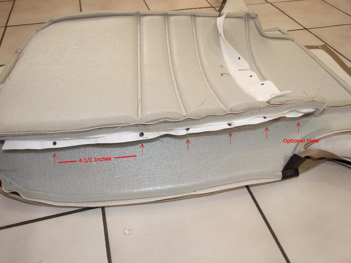 Porsche 944 seat reupholster instructions