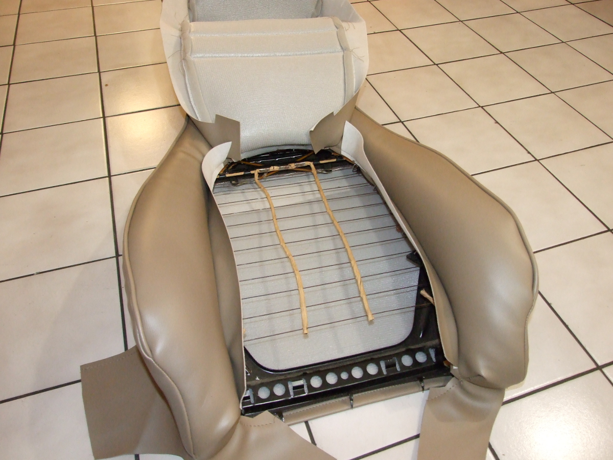 Porsche 944 seat reupholster instructions