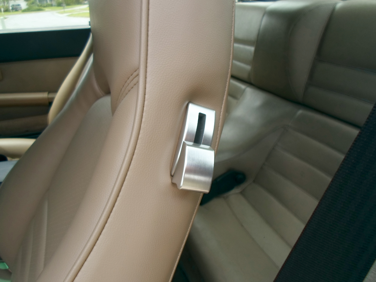 Brushed aluminum seat latches, Porsche 944, Porsche 911