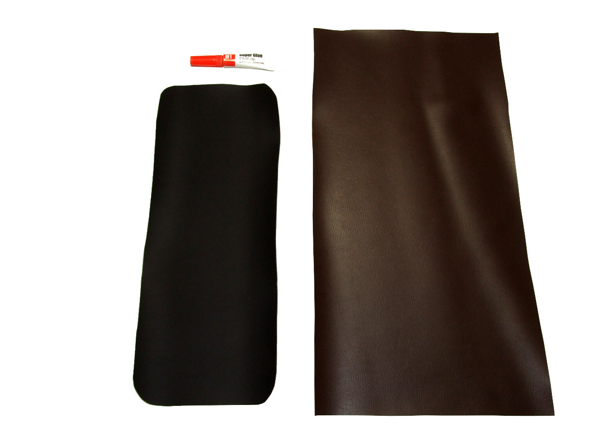 Brown vinyl armrest cover for Porsche 944, 1982 - 1985